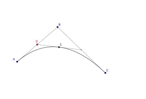 Quadratische Bezierkurve
