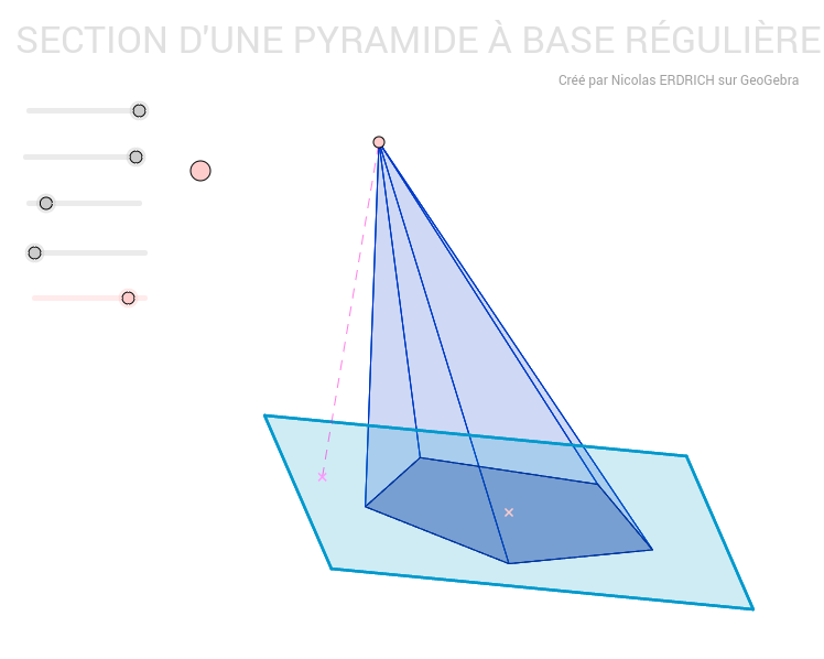Section d'une pyramide