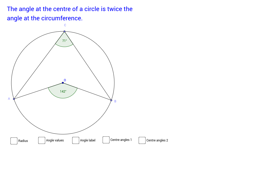 Angles at centre and circumference