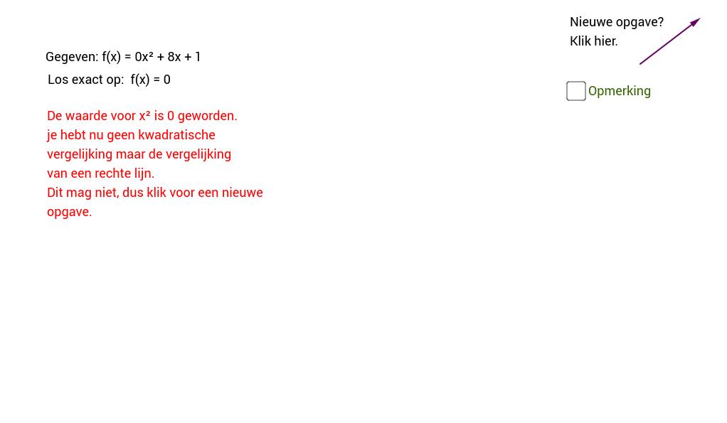ABC-formule. Oefening