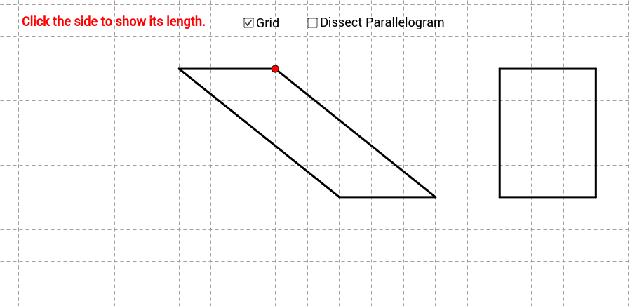 Area of Parallelograms (GeoGebra 4 version)