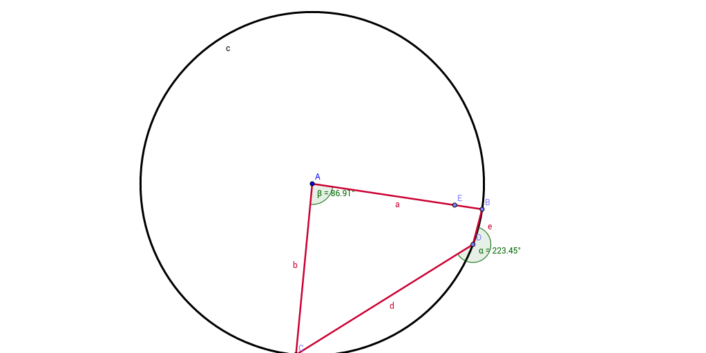 Angles at centre and cirumference of circle