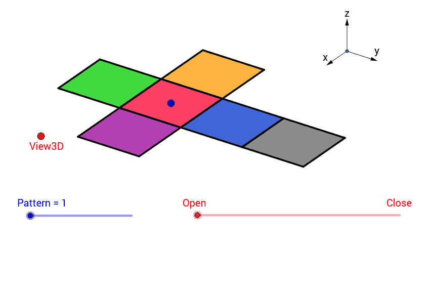 Nets Of Solids 3 D Shapes Geogebra