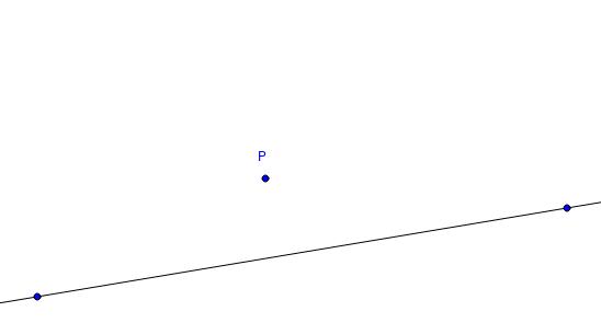 Elementa I.12: Normaalin konstruointi pisteen kautta