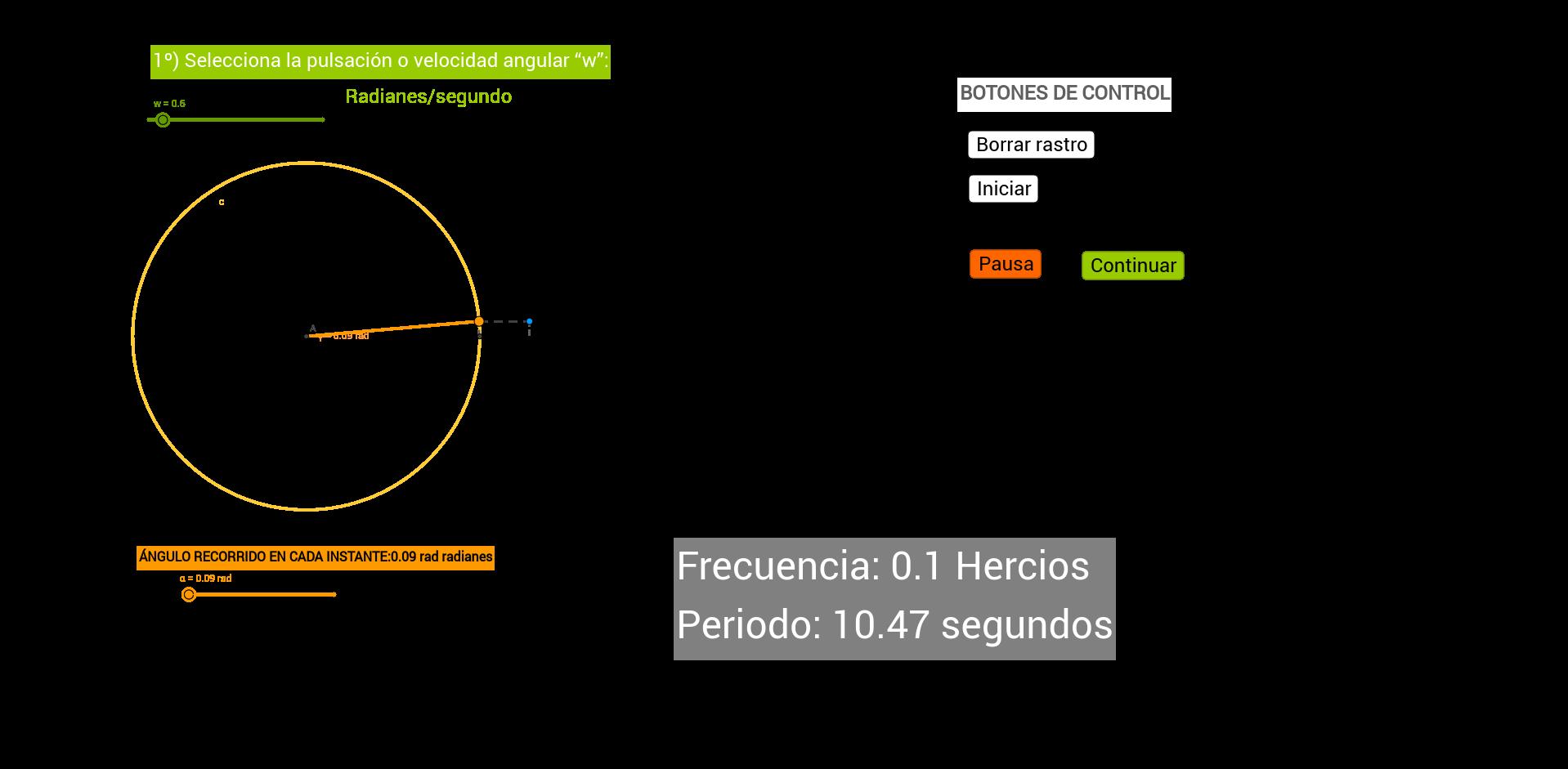 Velocidad Angular-Frecuencia