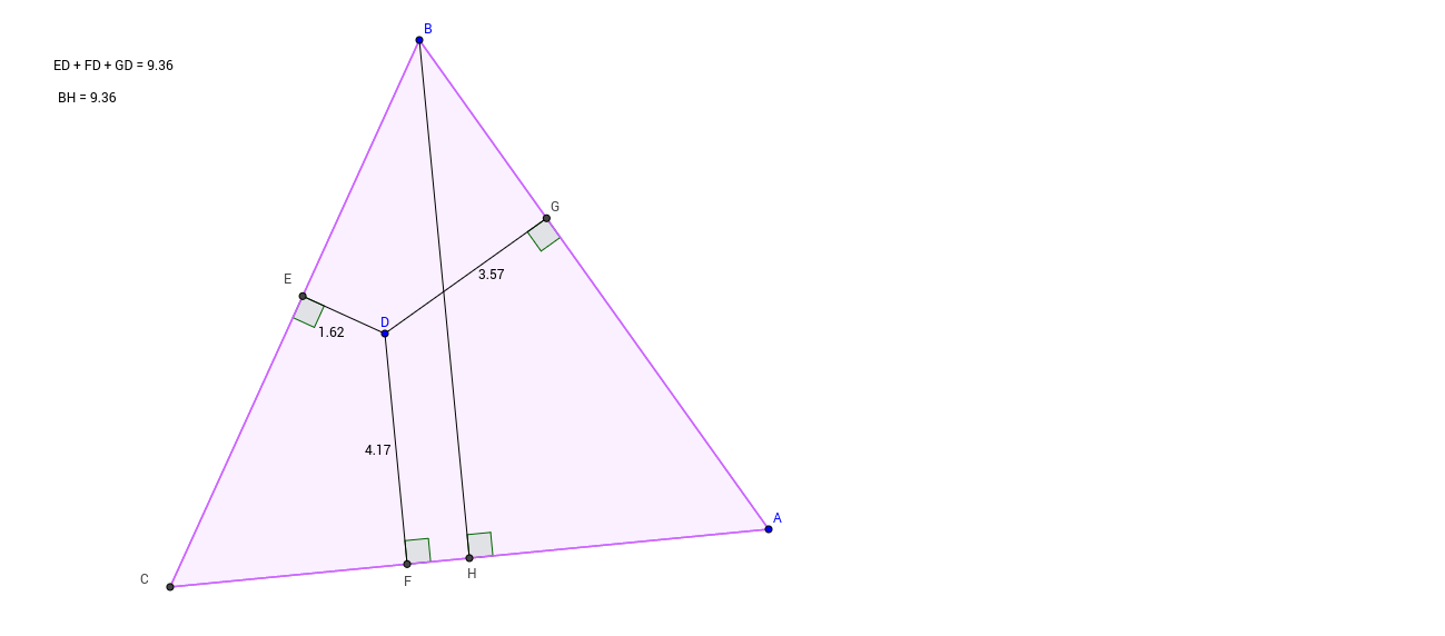 Interesting property of equilateral triangles