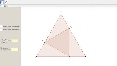 Szabályos háromszögben szabályos háromszög 1.
