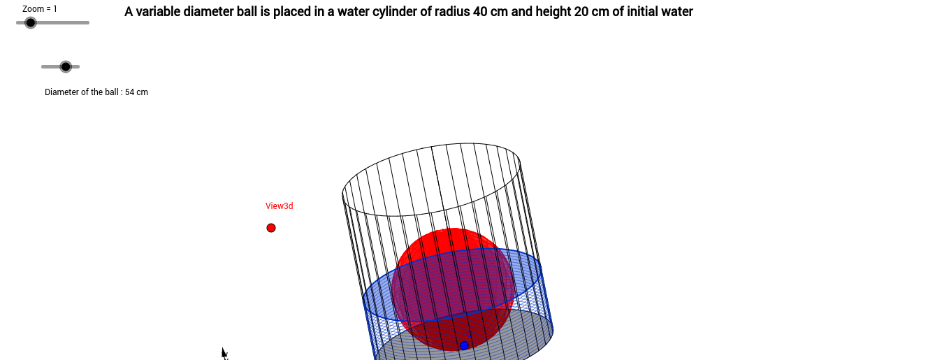 A ball in a cylinder