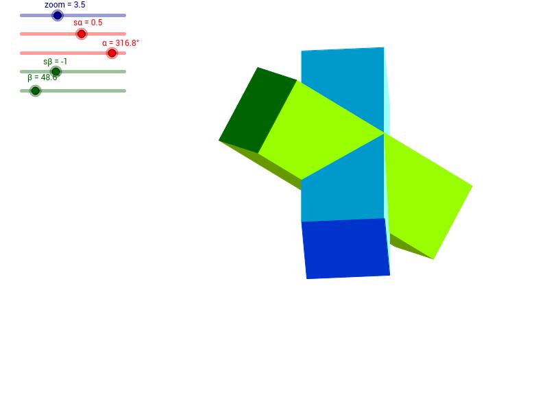 Dwa graniastosłupy czworokątne