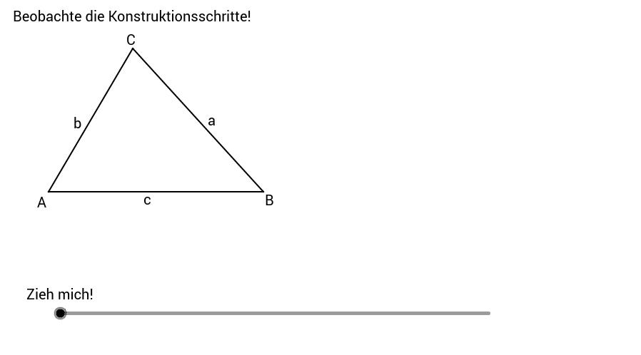 Umkreis, Höhenschnittpunkt, Schwerpunkt eines Dreiecks