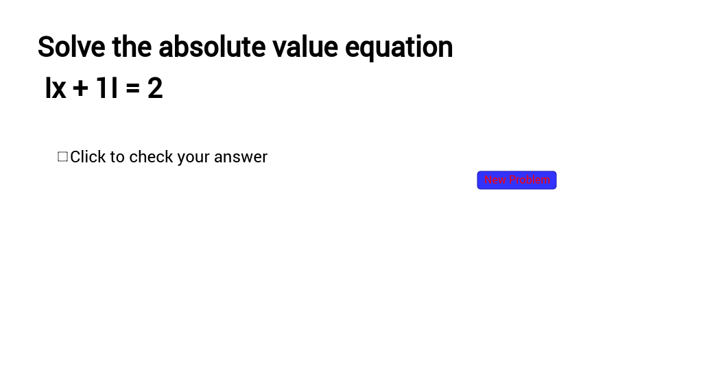 Absolute Value-Section 4.1