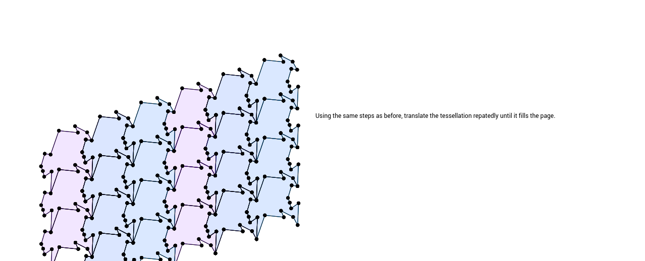 Step 8 in creating a tessellation