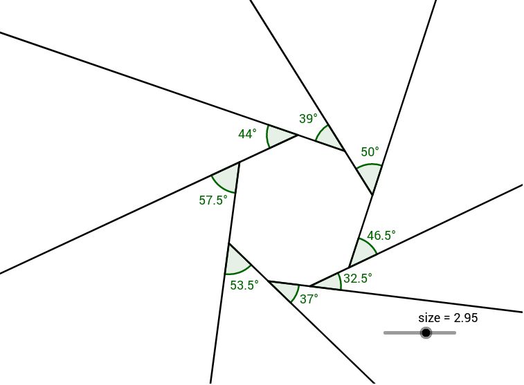 Copy Of Sum Of Exterior Angles Of A Polygon Geogebra