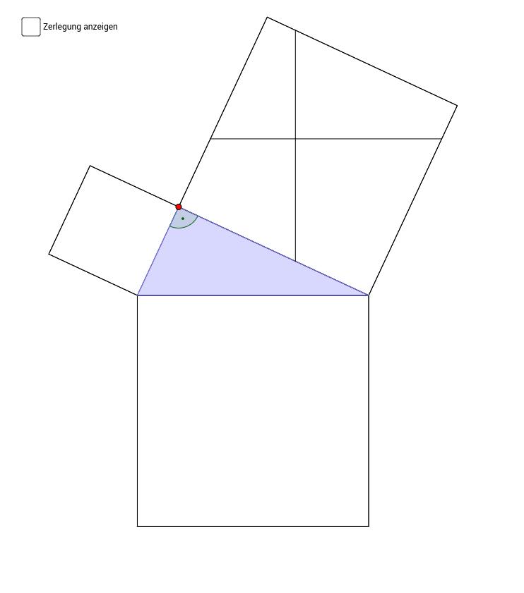satz des pythagoras zerlegungsbeweis nach perigal geogebra. Black Bedroom Furniture Sets. Home Design Ideas