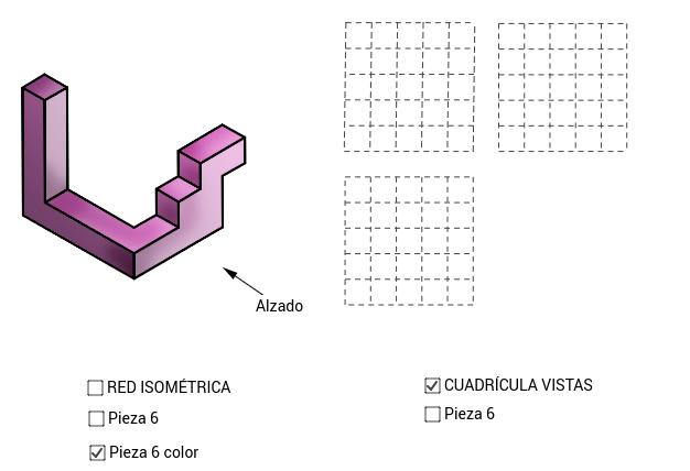 VISTAS/ISOMETRÍA (pieza 6)