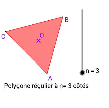 Caractérisation d'un polygone régulier et propriétés