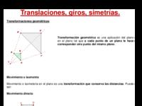 Teoria de transformacions en el pla