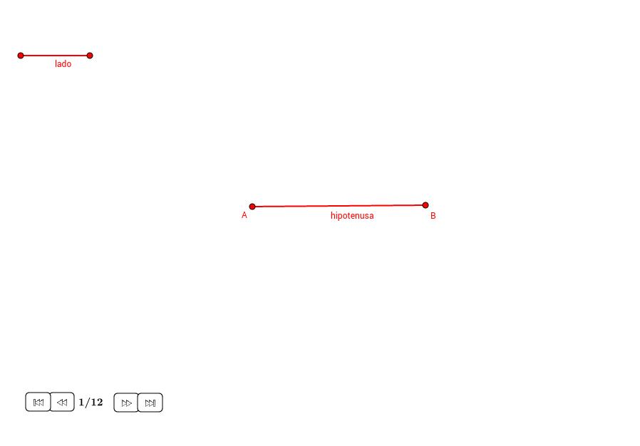 Triángulo rectángulo dada la hipotenusa y un lado