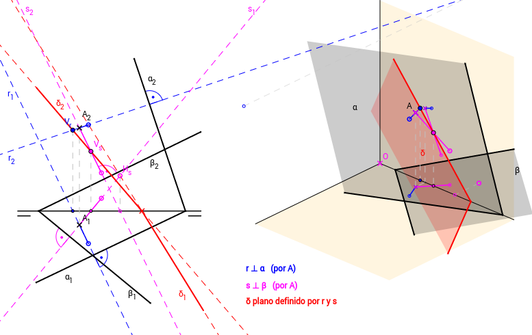 DT2.Diedrico. Paralelismo y perpendicularidad. Problema 03.b