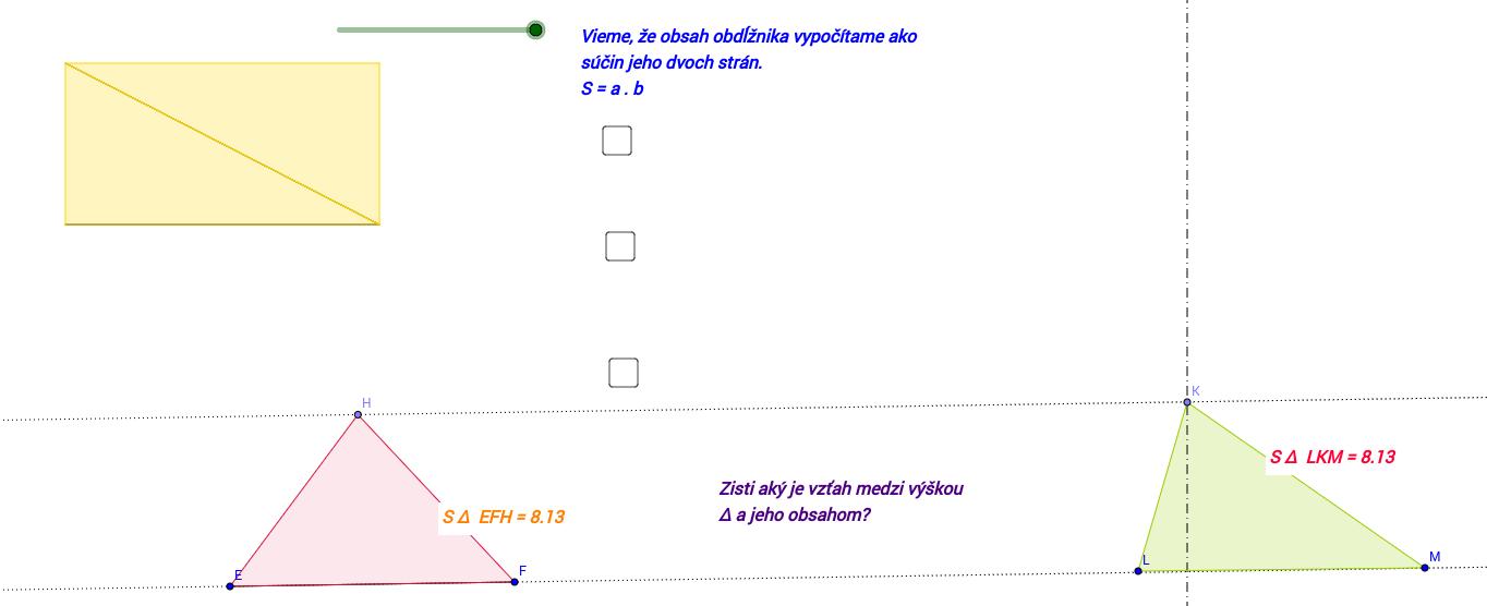 Výpočet obsahu trojuholníka