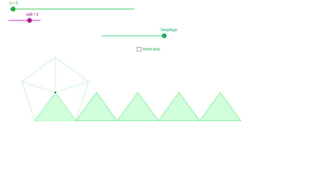 Polígons regulars: Descomposició en triangles