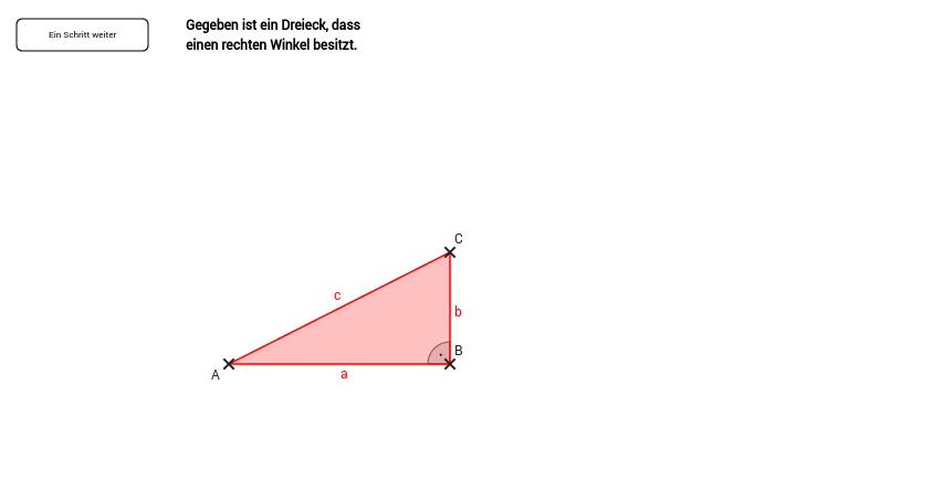 Dreieck1: Flächenformel bei rechtwinkligen Dreiecken