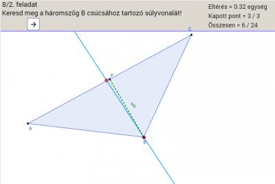 Geometriai tippelős játék 8. osztályosoknak