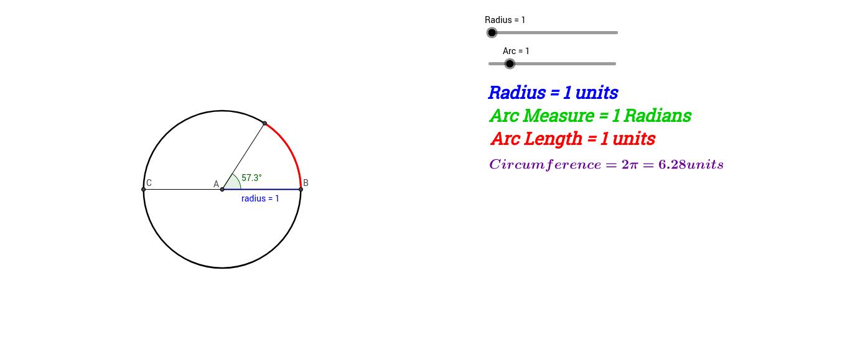 Introduction to Radian Measure GeoGebra – Radian Measure Worksheet