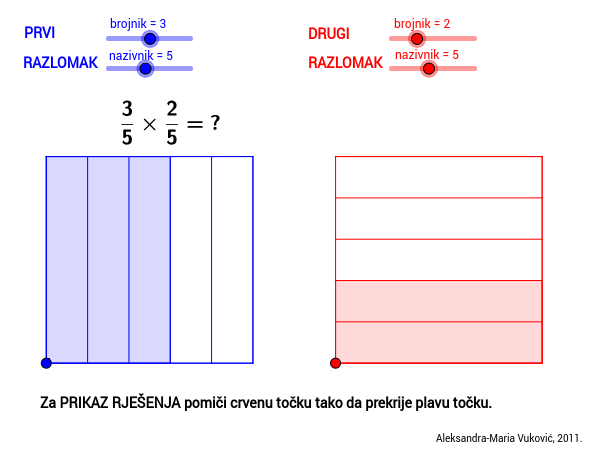 Množenje razlomaka / Multiplying fractions