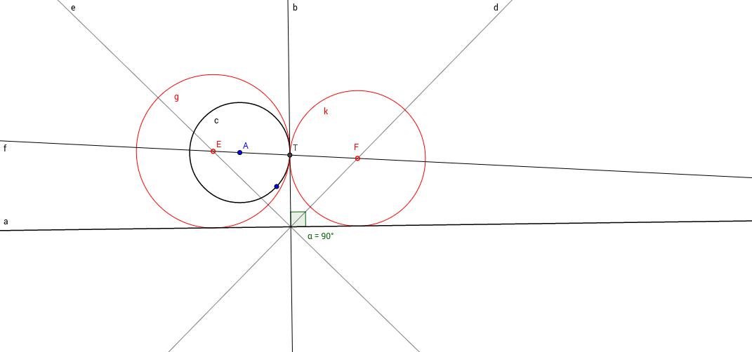 Circunferncia tangente a otra y a una recta