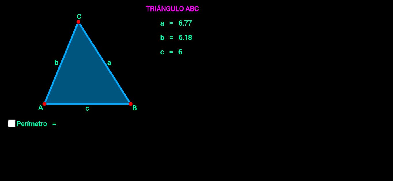 Triángulo ( perímetro )
