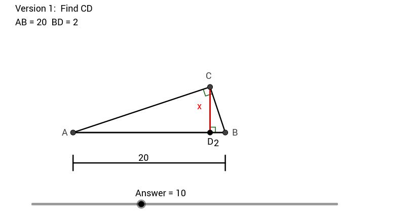 Right Triangle Altitude Ratios