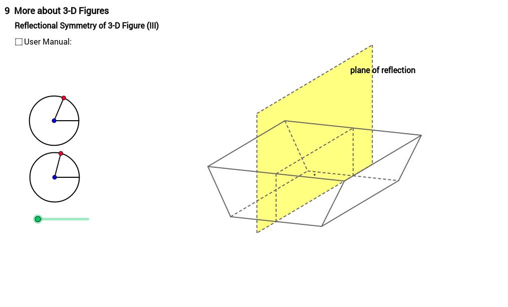 Reflectional Symmetry of Trapezoidal Prism