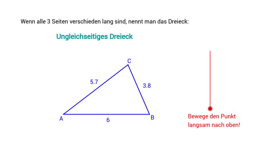 Einteilung der Dreiecke nach den Seiten