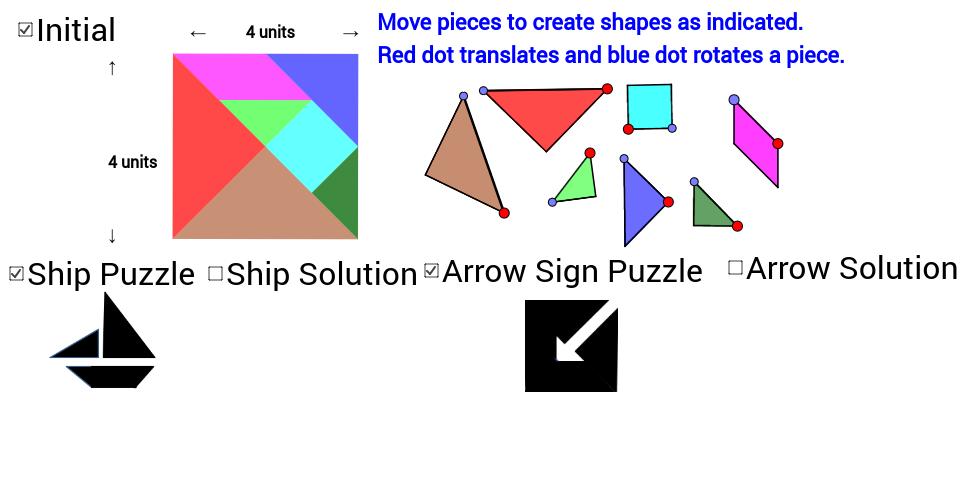 Tangram Ship & Arrow Sign