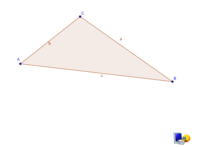 Circumcenter of a triangle. Construction with GG Tools.