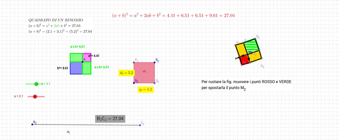 quadrato di un binomio