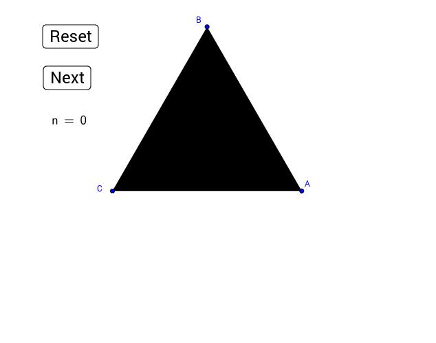 Triangle de Sierpinski.