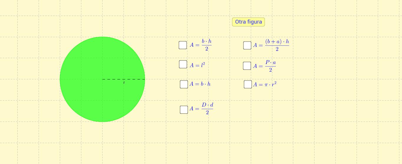 Test de áreas de figuras planas.