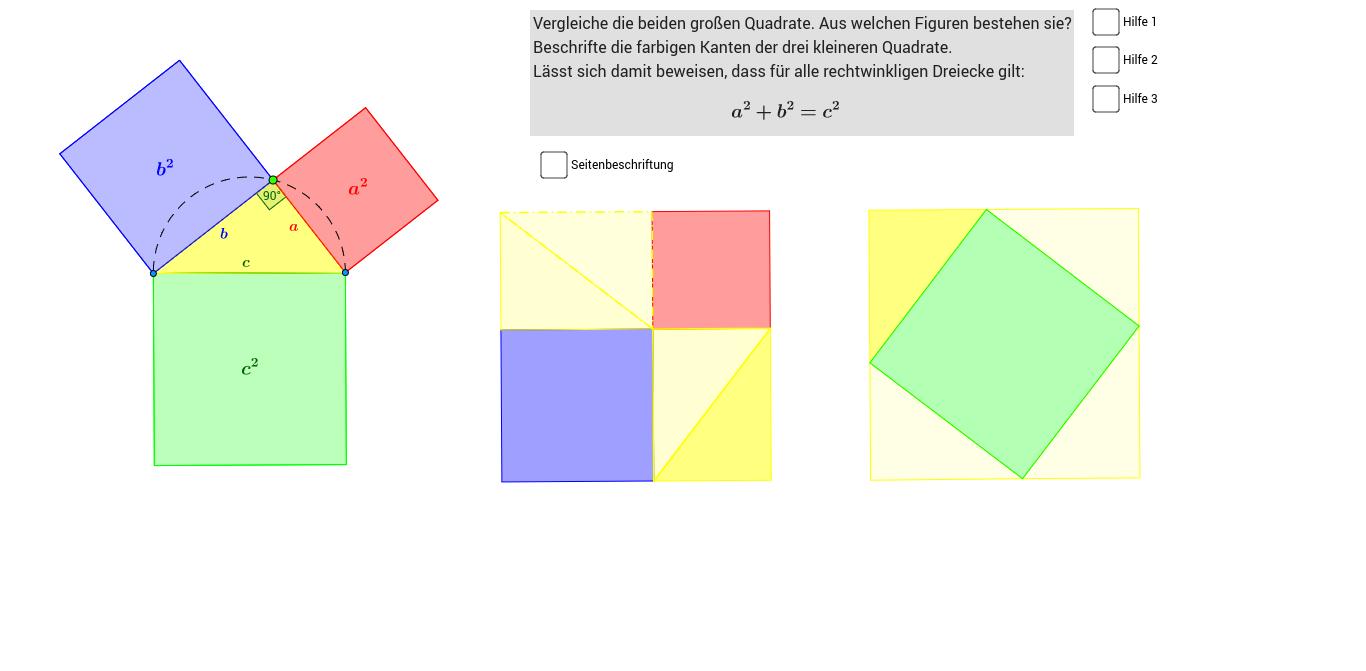 Beste Frei Satz Des Pythagoras Arbeitsblatt Fotos - Mathe ...