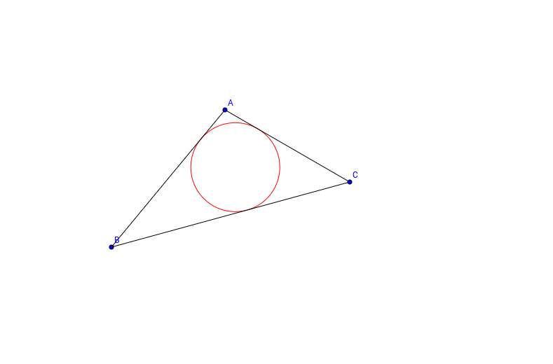 Inscribe a Circle in a Triangle