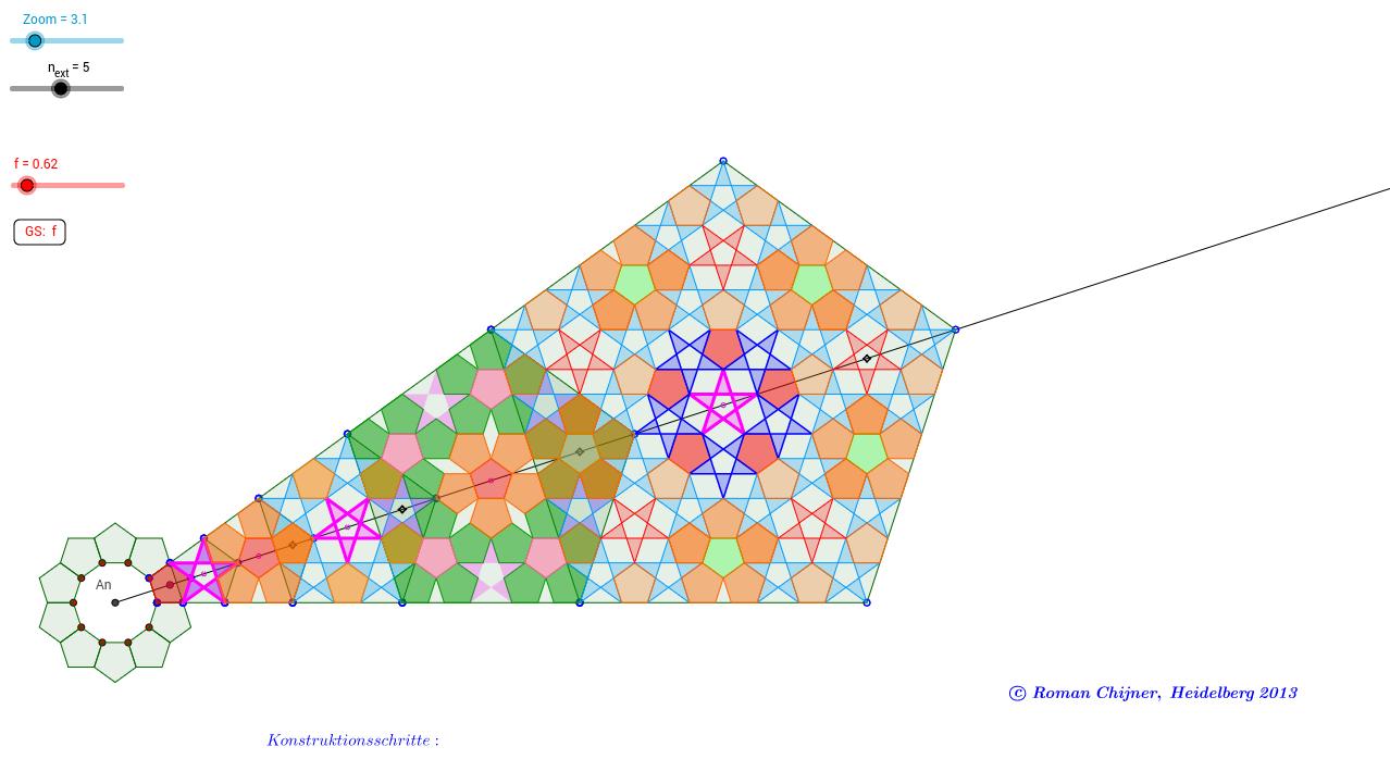 Nichtperiodische Parkettierung Konstruktionsschritte