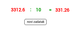 Dijeljenje decimalnog broja dekadskom jedinicom-iz pjesmice