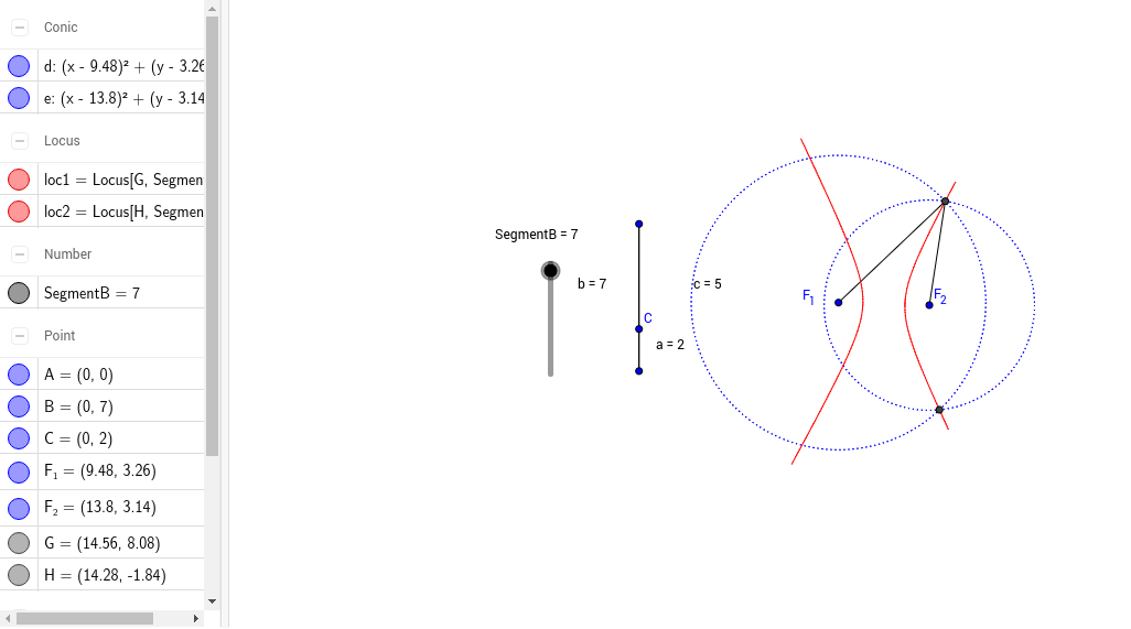 Hyperbola locus of Points GeoGebra – Locus Worksheet