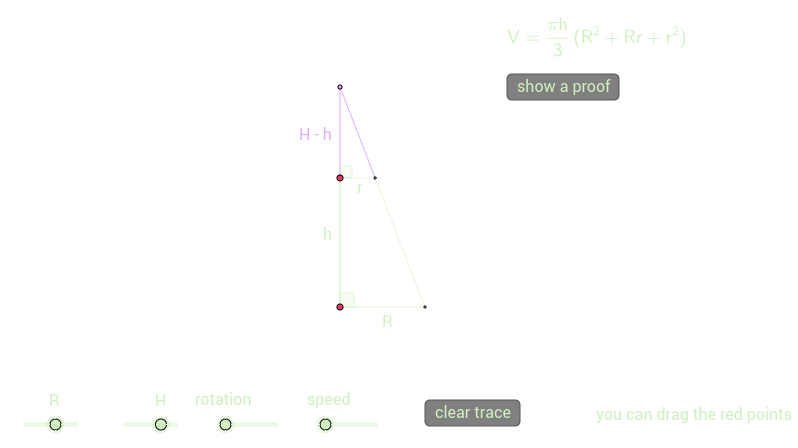 frustum of a right cone