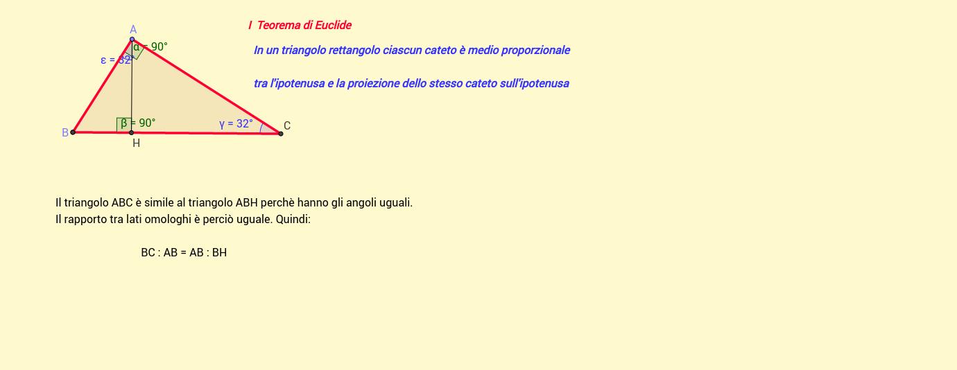 I Teorema di Euclide