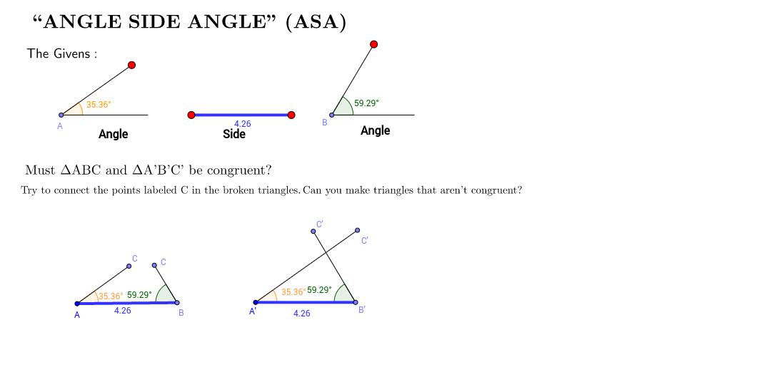 Angle Side Angle (ASA)