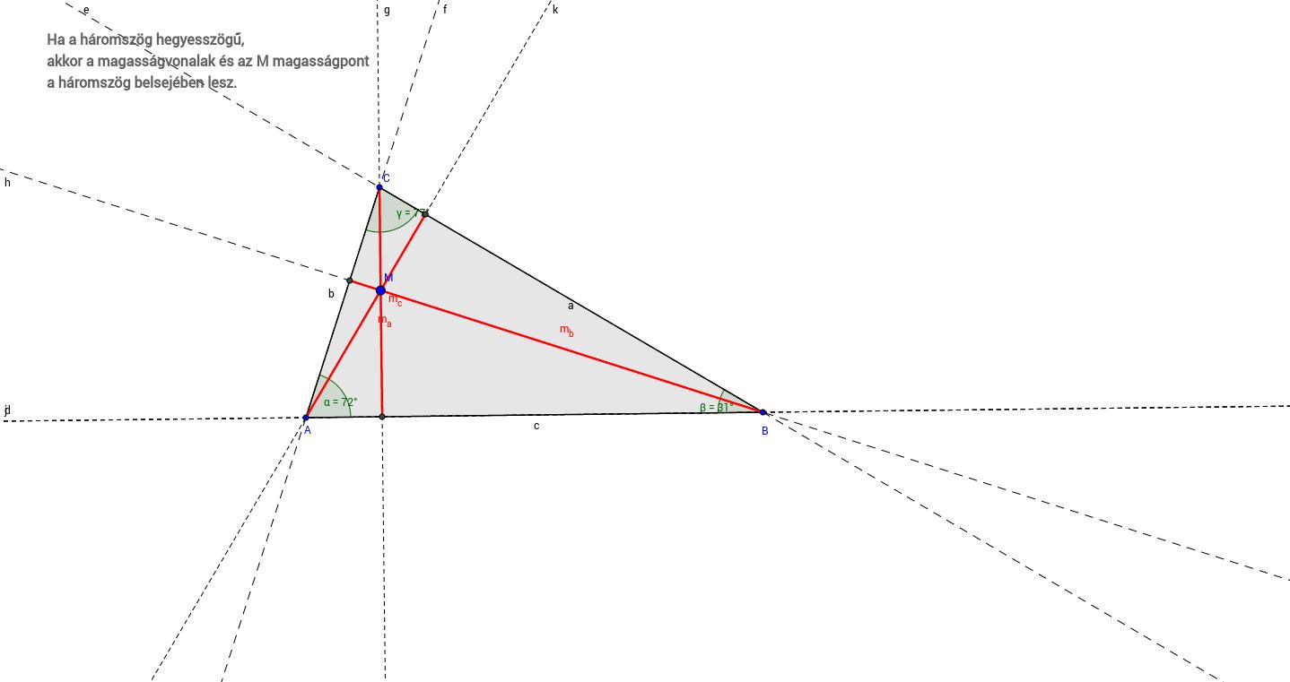 A háromszög magasságvonalai