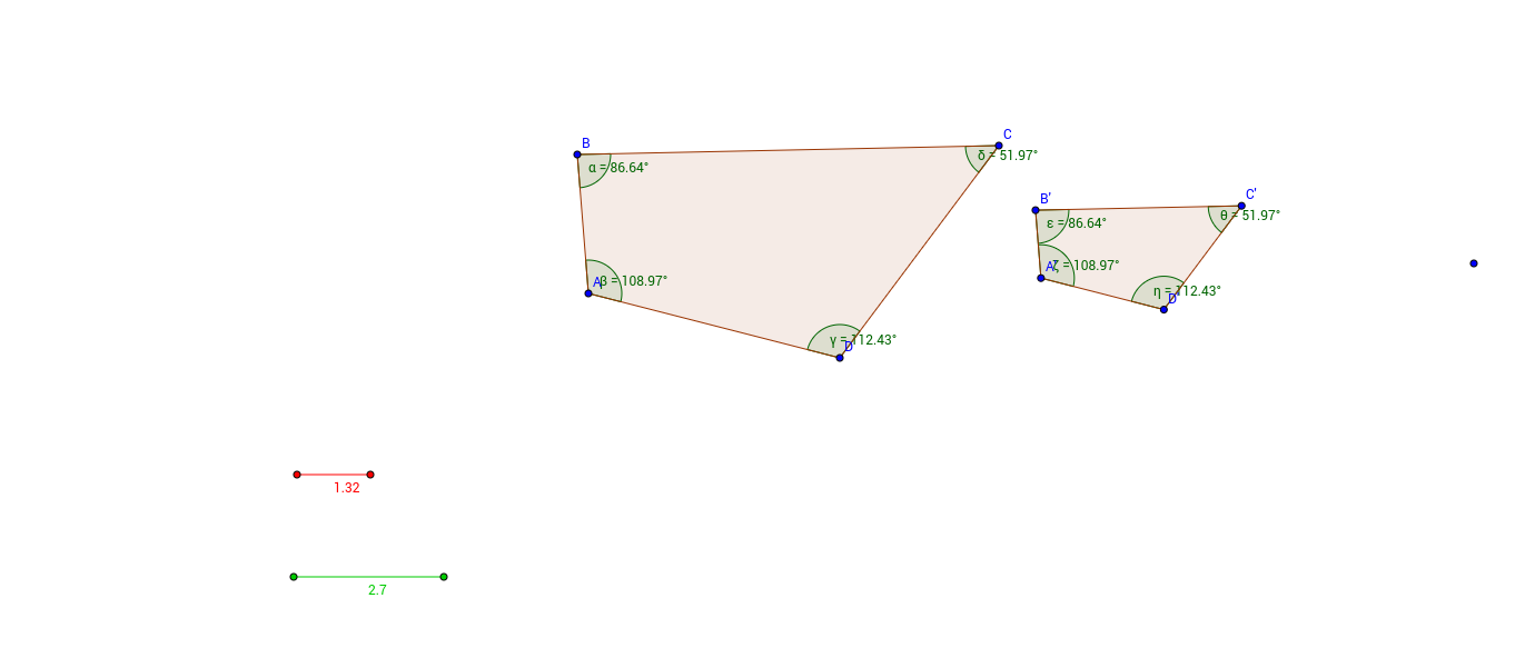 Worksheets Similar Polygons Worksheet similar polygons and scale factor geogebra