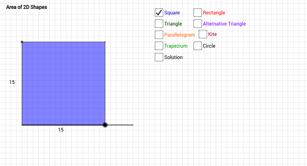 Area of 2d Shapes